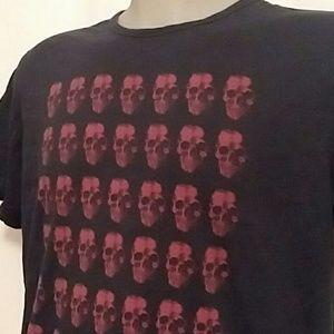 John Varvatos Skull Print Navy Blue T-shirt